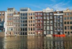 Architecturale voorgevels van een waaier van stijlen waarvoor de stad is Royalty-vrije Stock Afbeelding