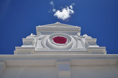 Architecturale witte geveltop Royalty-vrije Stock Foto's