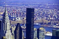 Architecturale wolkenkrabbers in de Stad van New York Royalty-vrije Stock Foto