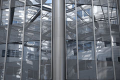 Architecture : À l'intérieur de d'un gratte-ciel (Vienne/Autriche) Photographie stock libre de droits
