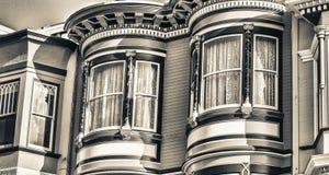 Architecture à la maison classique des bâtiments de San Francisco, la Californie Photos stock