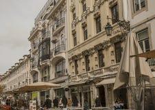 Architecture à Lisbonne, Portugal, l'Europe - Praça font Comércio photographie stock