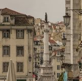Architecture à Lisbonne, Portugal - rues et maisons photos stock