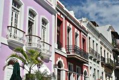 Architecture à vieux San Juan images libres de droits