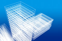 Architecture. Architectural design on blue background Stock Images