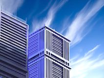 architecture 3d abstraite Photo libre de droits