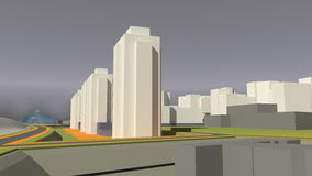 Architecture (3d rendering) Stock Image