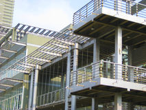 Architecture. Steel architecture in a sustainable building Stock Images