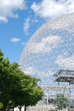 Architecture. Biosphere in Montreal with a beautiful sky blue Stock Photography