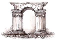 Architecture illustration stock