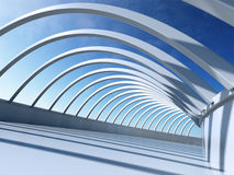 Architecture Abstract. 3D render - Architecture Abstract illustration Stock Image