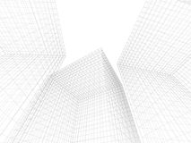 Architecture abstract. Abstract wire frame design of architecture Stock Photo