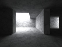 Architecture abstract background. Concrete empty room interior. 3d render illustration stock illustration