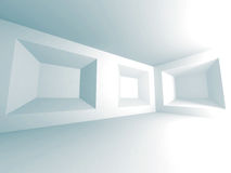 Architecture Abstract Background. Empty White Room Royalty Free Stock Photos