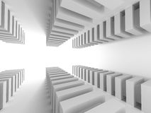 Architecture Abstract Background. Empty White Room Stock Photos