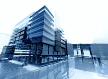 Architecture abstract. Concept 3d render Royalty Free Stock Photos