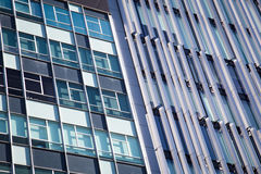 Architecture abstract. Details of windows of an office building Royalty Free Stock Image