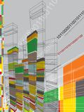 Architecture abstract graphic. Architecture 3D abstract graphic - illustration Royalty Free Stock Photography