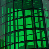 Architecture abstract of its green glass Stock Photo