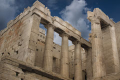 Architecture of the Acropolis in Italy Royalty Free Stock Image