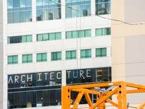 Architecture add. A local school advertising there architecture creativeness stock photo