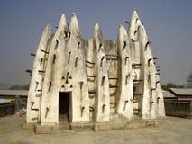 Architecture africaine traditionnelle de boue-et-bâton Photo stock