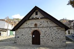 Architecture from Agros village Royalty Free Stock Photography