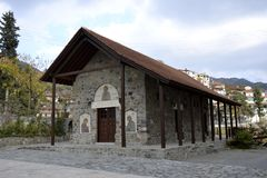 Architecture from Agros village Stock Image