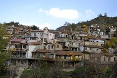 Architecture from Agros village Royalty Free Stock Photos