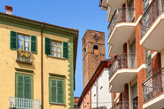 Architecture of Alba, Italy. Stock Image