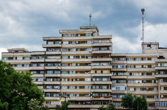 Architecture in Alba Iulia. House of flats from communism period in Alba Iulia city in Romania royalty free stock photography