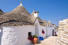 Architecture of Alberobello town. Famous trulli houses in Alberobello town, Apulia, Italy Stock Photo