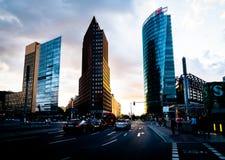 Architecture allemande ultramoderne de nouveau développement urbain Photo stock