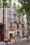 Architecture along the Rambla of Barcelona Royalty Free Stock Image