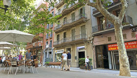 Architecture along the Rambla of Barcelona Royalty Free Stock Images