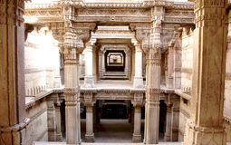 Architecture. Ancient architecture building in Ahmedabad Gujarat. This is a step well  , sculpture Royalty Free Stock Photo