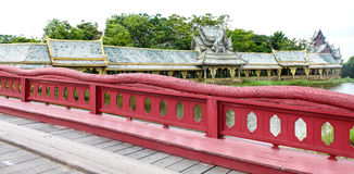 Architecture in ancient city. Samutsakorn, thailand Royalty Free Stock Images