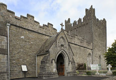 Architecture of ancient temples in the town Adare Stock Photos