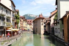 Architecture of Annecy, France Royalty Free Stock Images