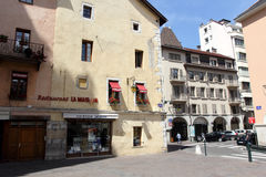 Architecture of Annecy, France Royalty Free Stock Photography