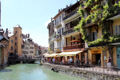 Architecture of Annecy, France Stock Images