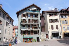 Architecture of Annecy, France Stock Photos