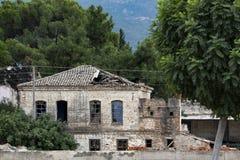 Architecture antique, bâtiment historique, fenêtre antique, porte antique, vue de fenêtre, vue de porte, facede antique de bâtime image libre de droits