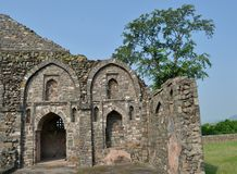 Architecture antique de Mandav Photographie stock