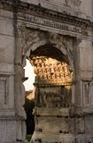 Architecture antique de Rome Image libre de droits