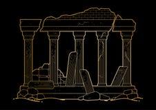 Architecture antique ruinée par graphique illustration stock
