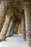 The Architecture of Antonio Gaudi inside Park Guell.  royalty free stock photography