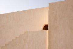 Architecture arabe et orientale, décoration de tourisme, l'ombre des étapes Image stock