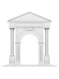 Architecture arc with column. Antique white object Royalty Free Stock Images