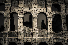 Architecture and arches of the Colosseum in Rome, Italy Stock Image